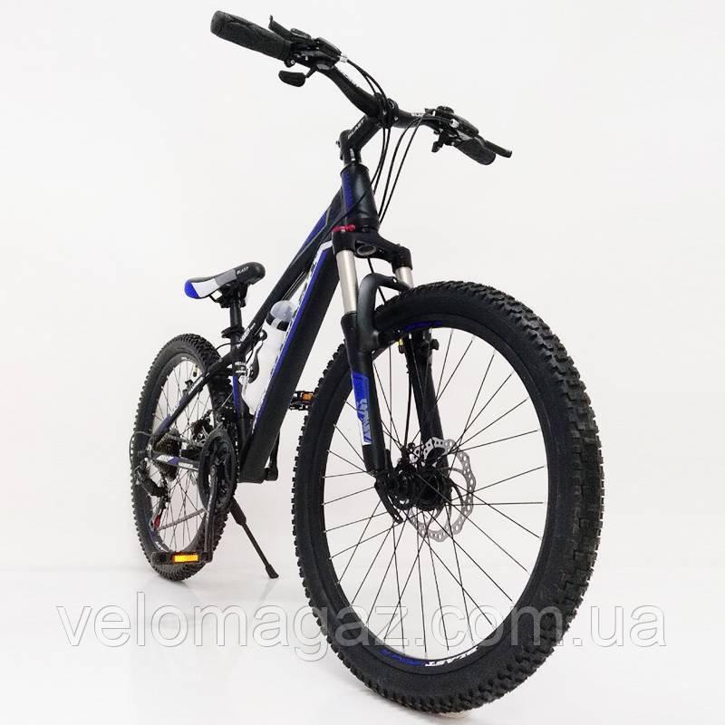 """Стильный алюминиевый спортивный велосипед BLAST-S300 27.5"""", рама 18"""", черно-синий"""