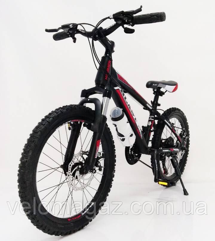 """Стильный алюминиевый спортивный велосипед BLAST-S300 27.5"""", рама 18"""", черно-красный"""
