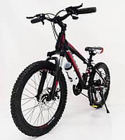 """Стильный алюминиевый спортивный велосипед BLAST-S300 27.5"""", рама 18"""", черно-красный, фото 1"""