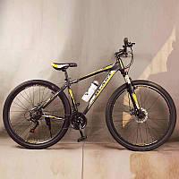"""Стильный алюминиевый спортивный велосипед BLAST-S300 27.5"""", рама 18"""", черно-желтый, фото 1"""