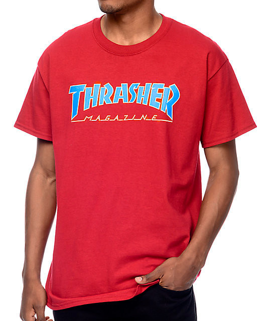 Футболка красная LOYS Thrasher Magazine S