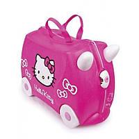 Оригинал. Чемодан детский на колесах Hello Kitty Trunki TRU0131
