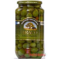 Оливки Bravo Aceitunas Chupadedos с чесноком , 1 кг