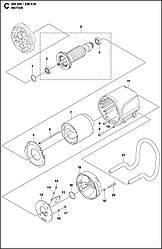 3 ЭЛЕКТРОДВИГАТЕЛЬ | DM 400, 2020-02 бурильная машина Husqvarna | алмазное бурение |