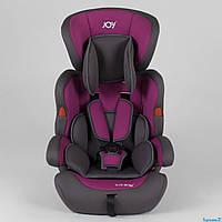 Автокресло JOY NB-5003  цвет серо-фиолетовый, универсальное от 9 до 36 кг, с бустером от 0 до 12 лет ДЕТСКОЕ