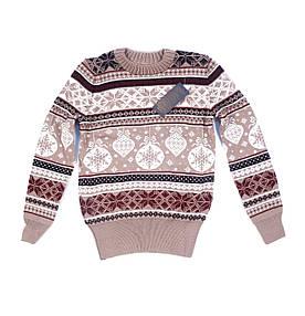 Женский свитер с зимними рисунками (42-44)
