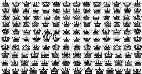 Слайдер дизайн на ногти короны