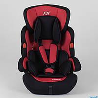 Автокресло JOY NB-7104 (4) цвет черно-красный, универсальное от 9 до 36 кг, с бустером  от 0 до 12 лет ДЕТСКОЕ