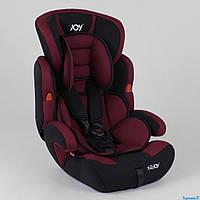 Автокресло JOY NB-8555 (4) цвет черно-бордовый, универсальное от 9 до 36 кг, с бустером от 0 до 12 лет ДЕТСКОЕ