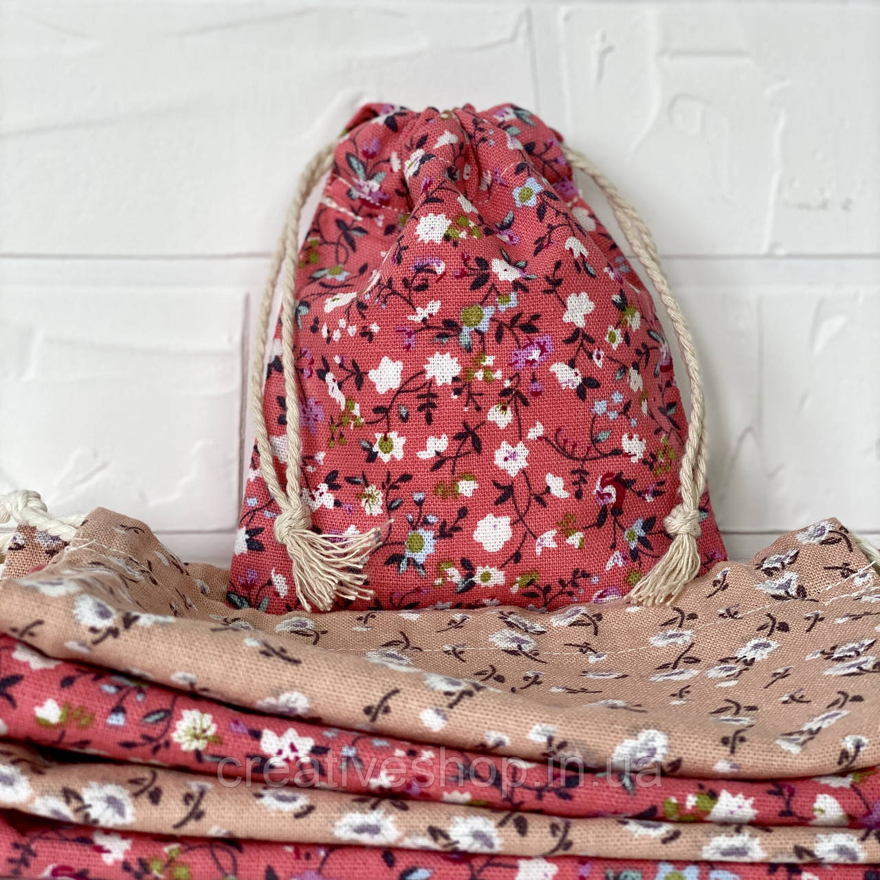 Эко-мешочек (розовый 12*15 см)