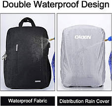 Фоторюкзак, рюкзак для фотоаппарата CADEN L5 Pro *чехол в подарок!!!, фото 2