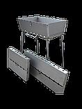 Мангал чемодан складной на 10 шампуров, толщина 3мм, переносной, компактный, для шашлыка и гриля, фото 3