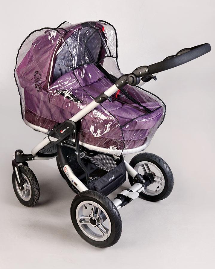 Силіконовий дощовик на коляску універсальний з блискавкою Baby Breeze 0310