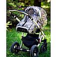 Силіконовий дощовик на коляску універсальний з блискавкою Baby Breeze 0310, фото 7