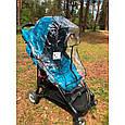 Силіконовий дощовик на коляску універсальний з блискавкою Baby Breeze 0310, фото 9
