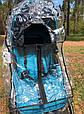 Силіконовий дощовик на коляску універсальний з блискавкою Baby Breeze 0310, фото 8