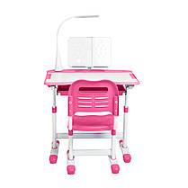 Ергономічний комплект Cubby парта і стілець-трансформери Vanda Pink, фото 2
