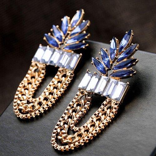 Шикарные длинные серьги с цепями Лилит