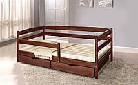Кровать подростковая Ева 70х140 с ящиками и боковой планкой