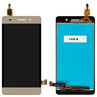 Дисплей Huawei Honor 4C (CHM-U01)/G Play mini + сенсор золотистый ( модуль, стекло)