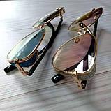 Красивые солнцезащитные очки-лисички с шорами, фото 2