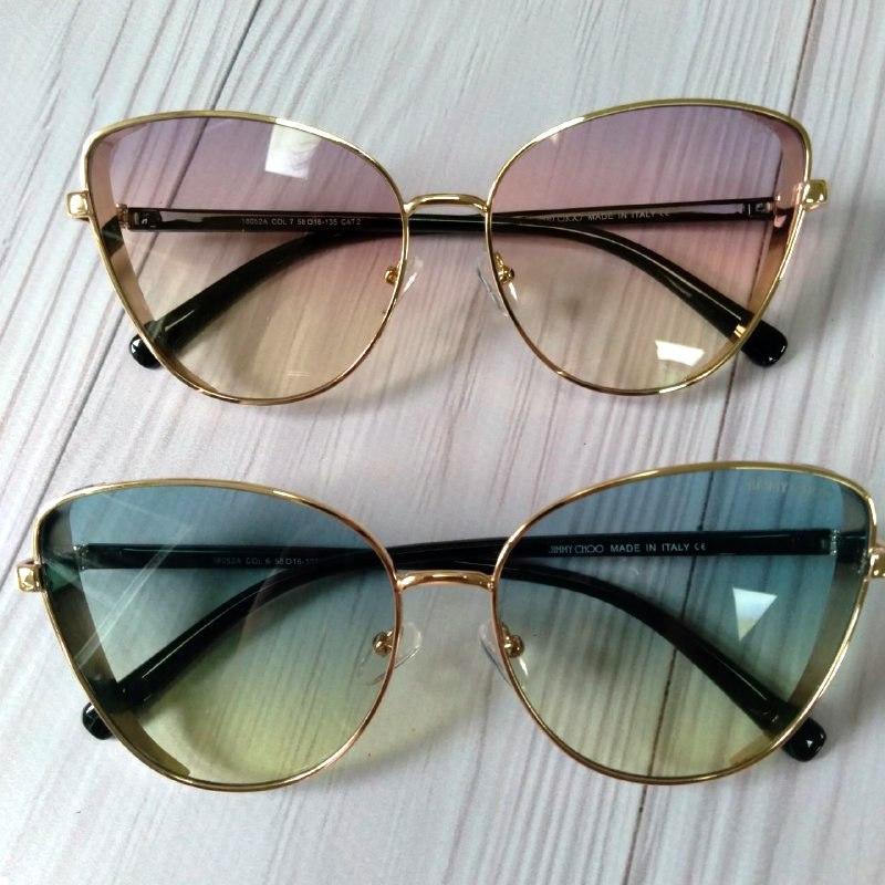 Красивые солнцезащитные очки-лисички с шорами