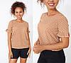 """Блуза в горошек с коротким рукавом """"Ненси""""    Распродажа модели, фото 3"""