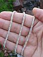 Серебряная цепь Спираль (длина 60 см, вес 23.5 грамм). 925 проба. Ручное плетение. 925 проба, фото 2