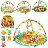 Коврик для младенца 056-7-8-9-60-1  86-84-1см,дуга 2шт, подвески5шт,4в, в сумке,61-66-3см