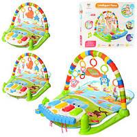 Коврик для младенца 698-54-54А-55  дуга,подвес5шт,игр панель-муз,св,проектор,3в,кор,53-43-9см