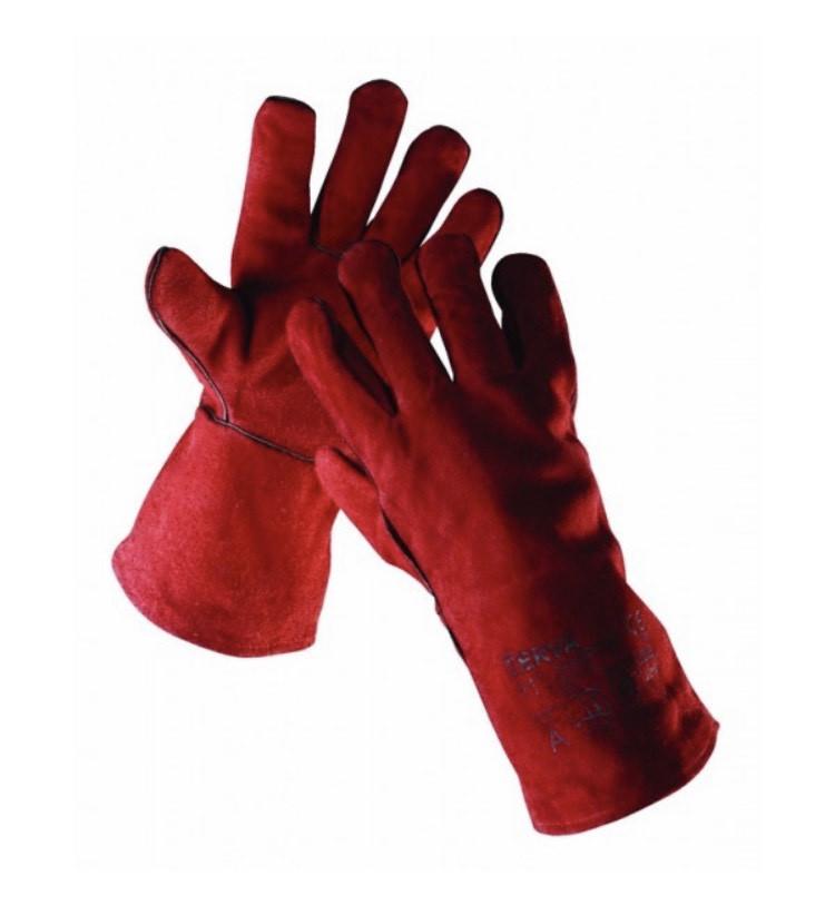 Перчатки (краги) сварщика Červa кожа SANDPIPER 35 см красные