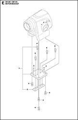 4 ОПОРА ДВИГУНА  DM 400, 2020-02 бурильна машина Husqvarna   алмазне буріння  