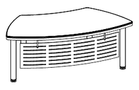 Стол руководителя Evolution МДФ 25\101 (1977х1021х780)