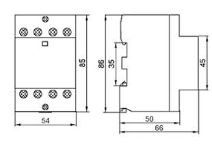 Контактор модульный КМ40-40 AC/DC IEK, фото 2