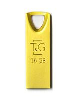 USB флешка Flash Drive 16Gb T&G Metal series TG117GD-16G Gold original