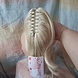 Хвост-шиньон каскад на крабе жемчужный блонд TEMPO-122, фото 2