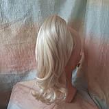 Хвост-шиньон каскад на крабе жемчужный блонд TEMPO-122, фото 6
