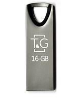 USB флешка Flash Drive 16Gb T&G Metal series TG117BK-16G Black original