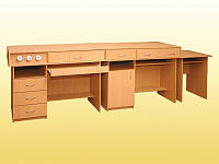 Комплект столов демонстрационных для кабинета физики (3 элемента).