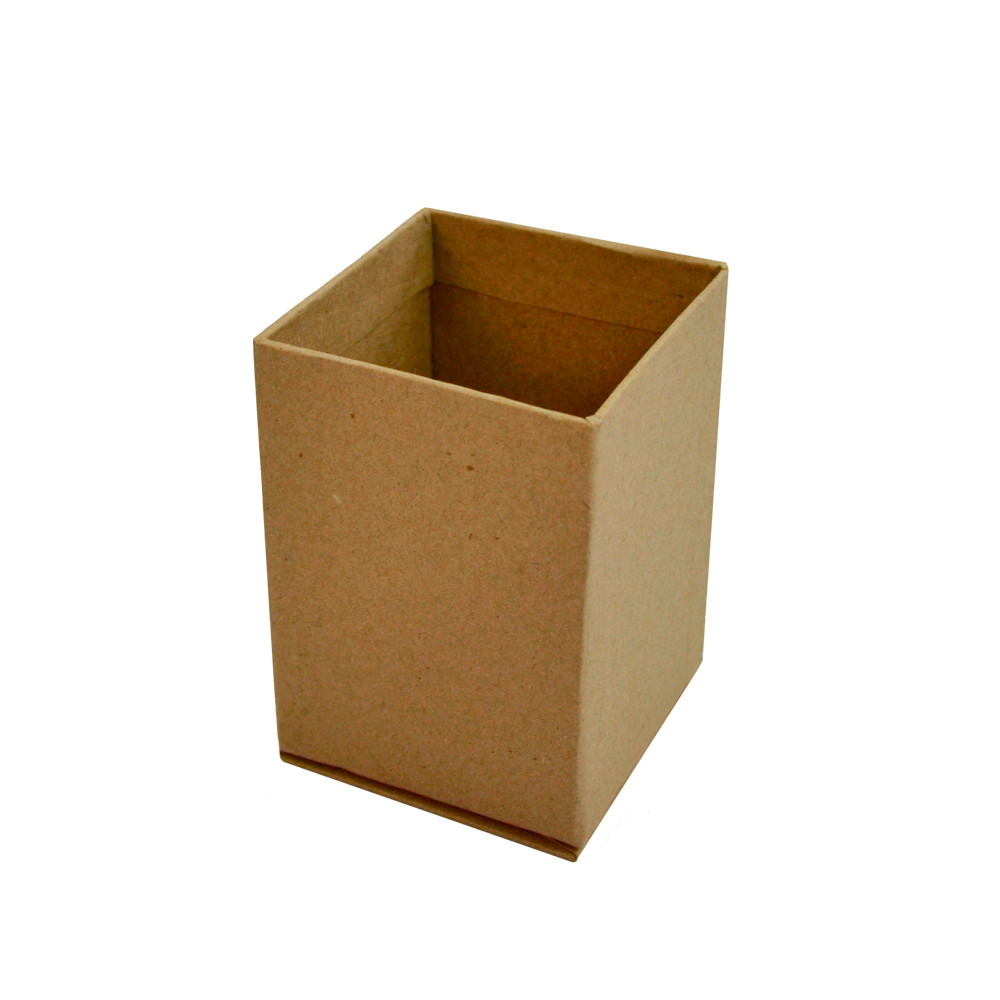 Подставка для канцелярских принадлежностей, серия ECO, картон, 70х70х100 мм, без рисунка