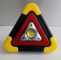 Прожектор аккумуляторный + solar LED 10W COB 350Lm 6500K IP54 жёлто-черный/ LMP93 с USB
