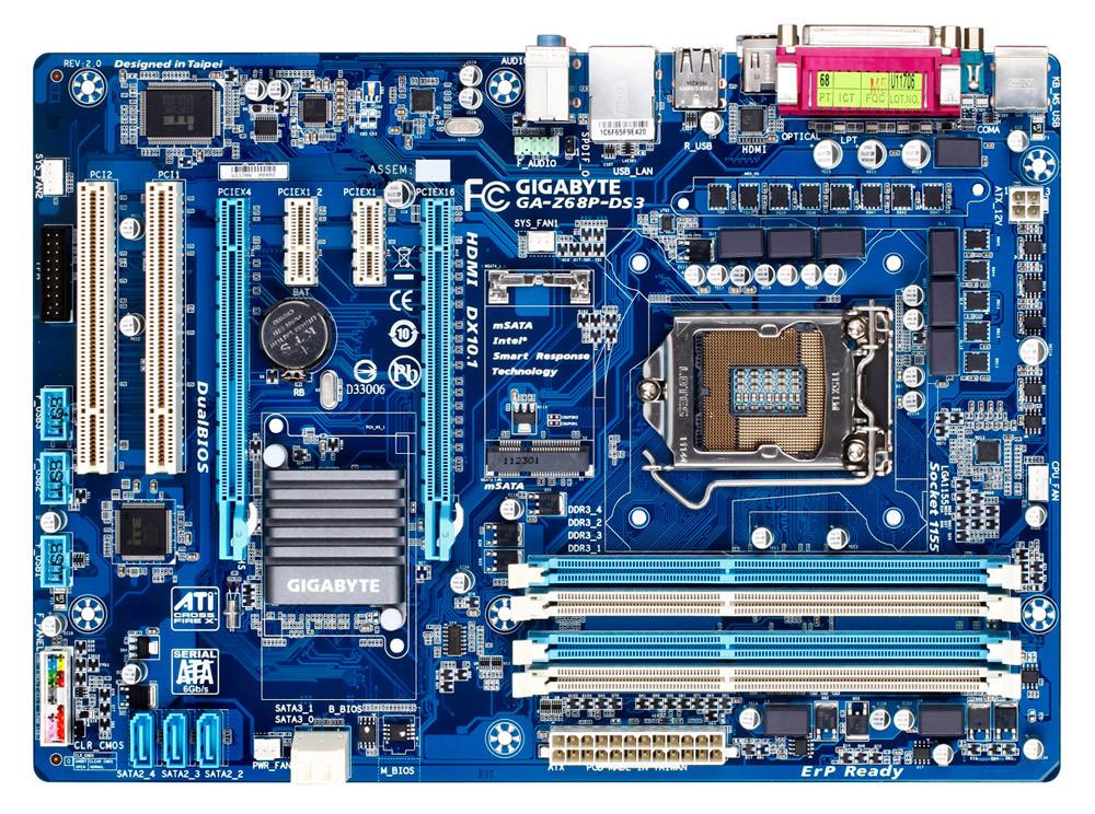 Материнская плата Gigabyte GA-Z68P-DS3  Socket 1155  OEM Гарантия 3 мес.