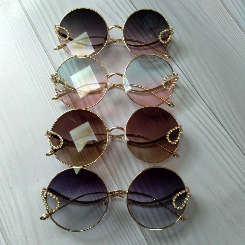 Стильные женские очки солнцезащитные круглые