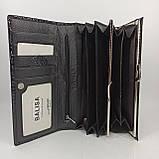 Класичний шкіряний жіночий гаманець / Классический кожаный женский кошелек Balisa C826-025 black, фото 9
