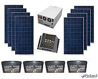 Автономная солнечная система для  дома 2 кВт