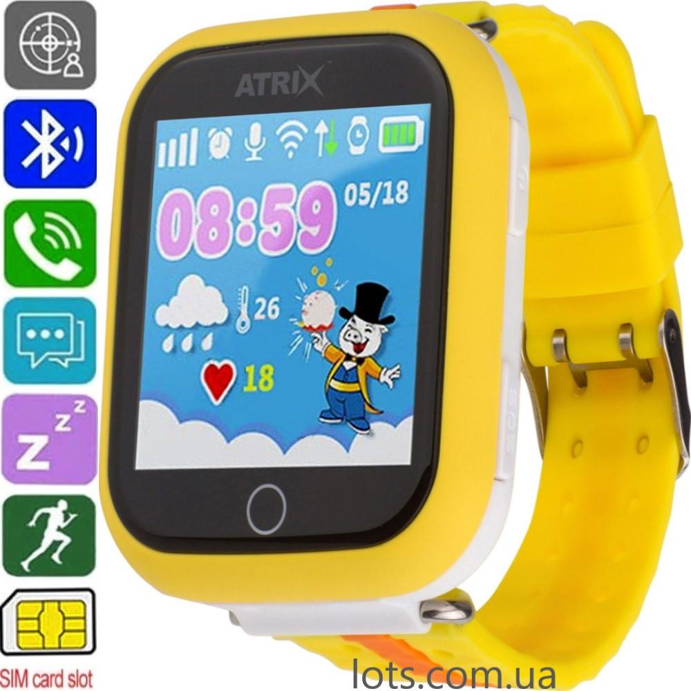 Смарт-часы детские ATRIX Smart watch iQ100 (GPS + SIM) Yellow - Умные Часы