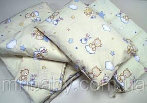 Набор в детскую кроватку Мишка на облаке