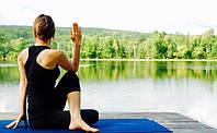 Коврик мат для йоги и фитнеса SportVida неопрен 6 мм