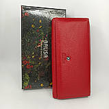 Класичний шкіряний жіночий гаманець / Классический кожаный женский кошелек Balisa B106-580-2 red, фото 2