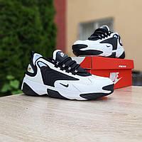 Мужские кроссовки Nike Zoom 2K (бело-черные) 10225